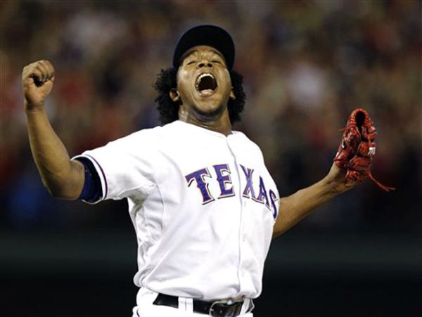 Neftali Feliz After Striking Out A-Rod to end the 2010 ALCS, sending Texas to its first World Series