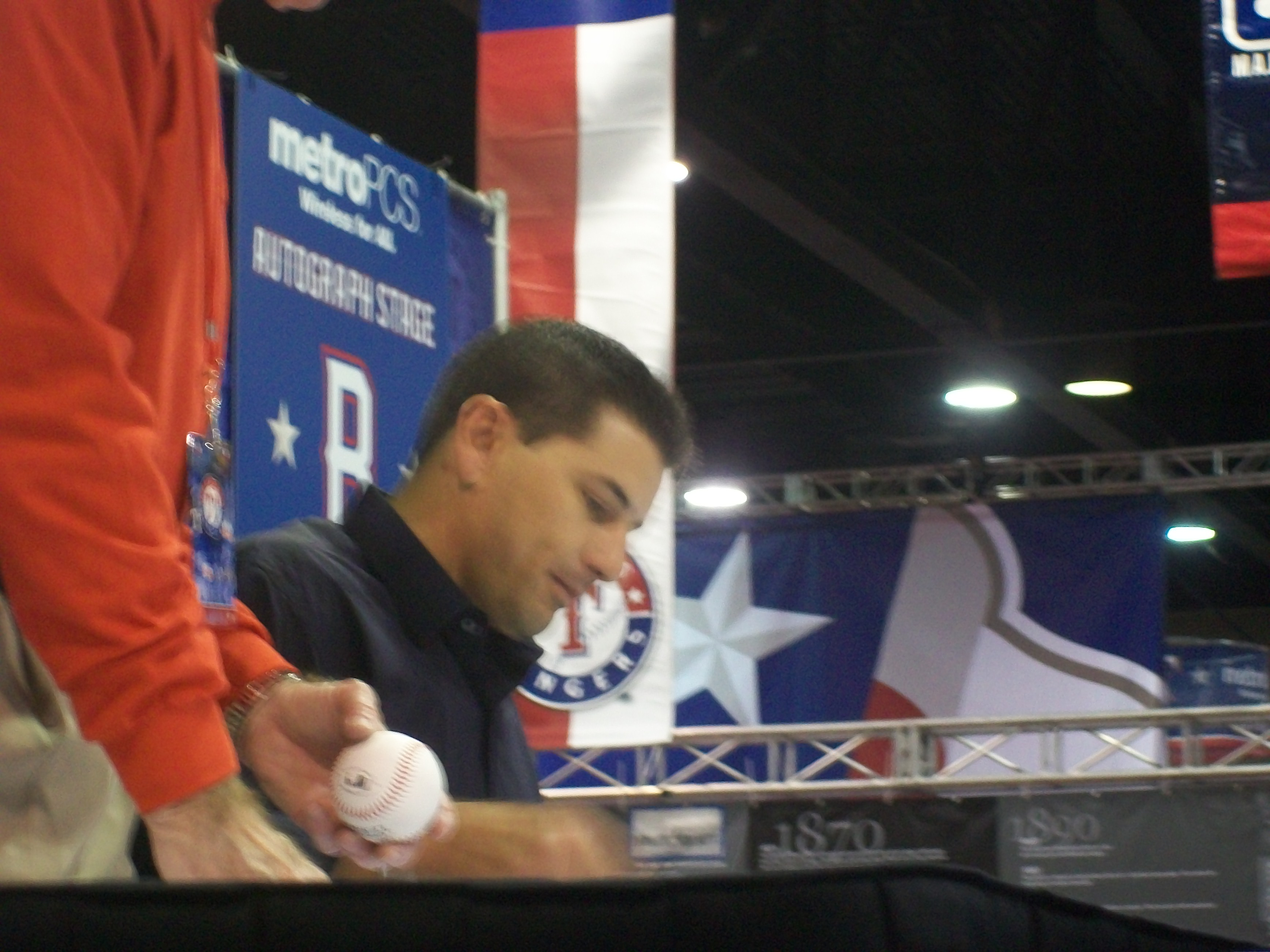 Matt Treanor at Rangers FanFest 2011