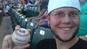 "Erik, devoted son, Rangers fan and blog follower. Photo by ""One Strike Away...Twice!"""