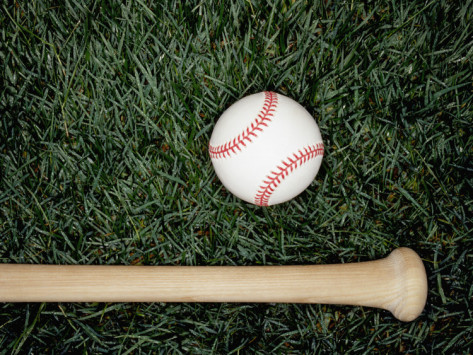 baseball-bat-and-ball-on-grass-overhead-view