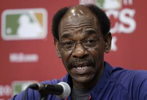 Ron Washington, soon to become 5th winningest African-American Manager in MLB.