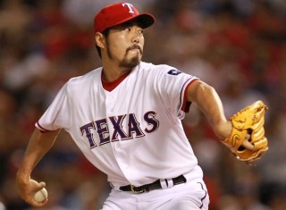 Koji Uehara with the Rangers